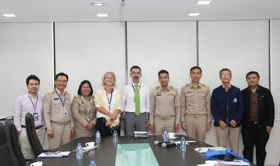 รองเลขาธิการสำนักงานทรัพยากรน้ำแห่งชาติ พร้อมผู้บริหาร สทนช. ให้การต้อนรับคณะผู้แทน EU ประจำประเทศไทย