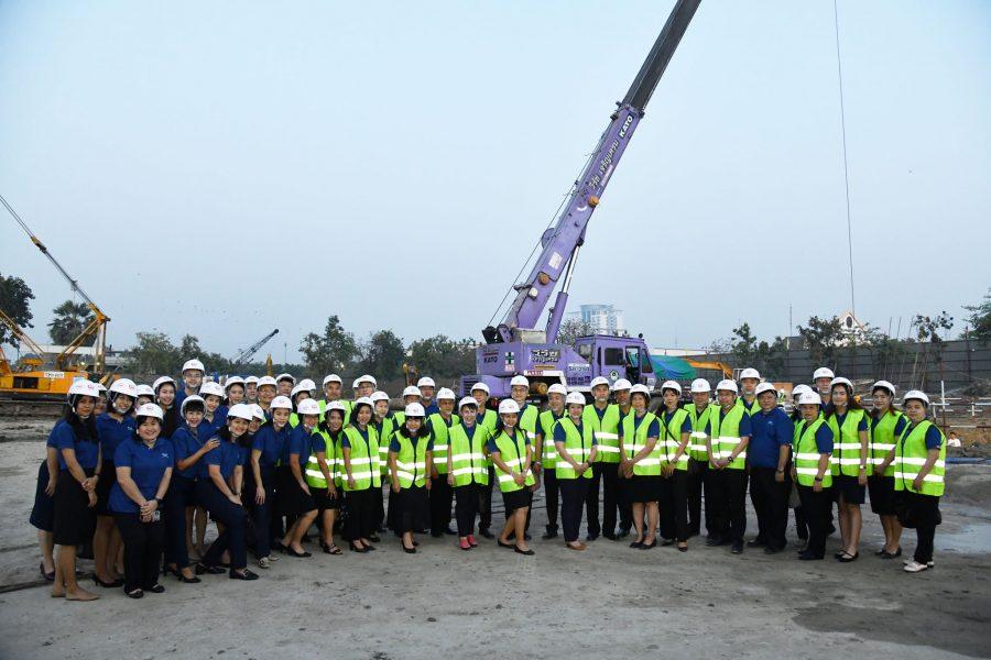 เลขาธิการสำนักงานทรัพยากรน้ำแห่งชาติ (สทนช.) เป็นประธานในพิธีตั้งเสาเอก โครงการก่อสร้างอาคารที่ทำการ สำนักงานทรัพยากรน้ำแห่งชาติ